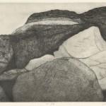 松田洋子/MATSUDA yoko:秋の岩場 36.5×51 銅版
