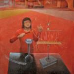 広田揚二/HIROTA yoji:Science View-静電気実験- S80 油彩