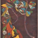 池田由紀子/IKEDA yukiko:結びの結びⅦ 84×60 木版