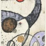 髙橋キョウシロウ/TAKAHASHI kyoshiro:アルフォンススの海-028 69×42 コラグラフ・ドライポイント