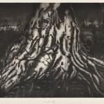 村田久命 / MURATA kumi:うごめく夜 56.5×74 銅版
