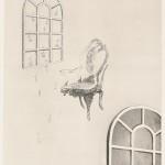 大口淑美/OGUCHI kiyomi:この手のひらに降り注ぐⅡ 45×33 銅版