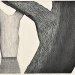 内山良子/UCHIYAMA ryoko:いつでもここに 54.5×79 木版