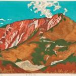 細田敏彦 / HOSODA toshihiko:秋の奥大日岳 45×60 木版
