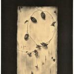 中畝かほる / NAKAUNE kaoru:白いテーブル・14-2 87.5×71.5 平版・石版・雁皮刷り
