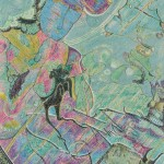 片桐アキラ/KATAGIRI akira:宇【ウ】宙【チュウ】からきた紫【ムラサキ】式【シキ】部【ブ】 P80 水彩・ミクストメディア
