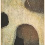 みいださかえ/MIIDA sakae:ある情景-予感 60×45 木版
