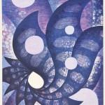 鈴木誠一/SUZUKI seiichi:宿借岩 62×43 木版・コラグラフ