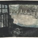 麓 絵理子/FUMOTO eriko:from dawn to dusk 60×76 銅版