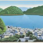 前田光一/MAEDA koichi:瀬戸内海の集落 40×55 木版