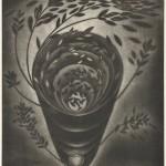 藤本清子/FUJIMOTO kiyoko:風湧く日 60×45.5 銅版