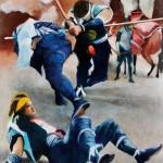 田中英明/TANAKA hideaki:戦いのまつり F60 油彩