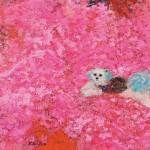 岩渕ケイ子/IWABUCHI keiko:咲く花の中に F120 油彩