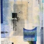 ウチダヨシエ/UCHIDA yoshie:たたずむ 115.8×64 木版・孔版