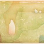川井木綿/KAWAI yu:緑風 45.5×60.6 木版