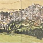 大坂忠司/OSAKA tadashi:Calascibetta(3) 53×169.6 木版