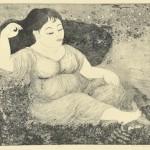 山下淳子/YAMASHITA junko:息吹 45×60 銅版
