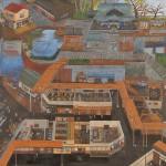 【奨励賞】檜垣友見子:HIGAKI yumiko/私の神社門前街 F120 油彩