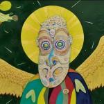 峰 丘/MINE oka:パプアの聖人 91.5×165 ミクストメディア