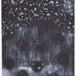 海老塚耕一/EBIZUKA koichi:風が伝える水のかたちⅠ 89×49.5 銅版・メゾチント・ドライポイント