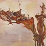 横山孝子/YOKOYAMA koko:柿の木シリーズ1(百年の古木) F130 油彩