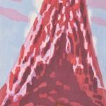 水津保美/SUIZU yasumi:紅富士【ベニフジ】 84×55.5 木版
