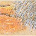 田中令子/TANAKA reiko:花咲くジェラシュ(Jarash)Ⅰ 36×55 木版