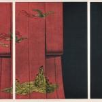 浜西勝則/HAMANISHI katsunori:着物-祝い 60×138 銅版