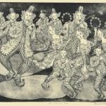大野弘道/ONO hiromichi:カーニバル・14 26.3×34 銅版