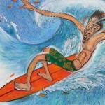 三澤正博/MISAWA masahiro:Enjoy Surfing  182×152  アクリル