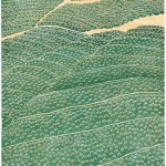 曽根邦治/SONE kuniji:緑燃ゆ 104×55 木版