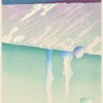 立堀秀明/TATSUBORI hideaki:てんのある 80×40 木版
