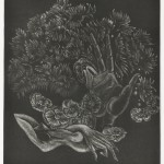 大上吉成/OUE yoshinari:心象風景 No1 41×34 銅版