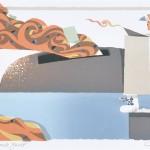 アイトヨハネス/EIDT Johannes:噴出するエネルギー 50×65 平版