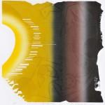 玉置 昇/TAMAOKI noboru:timely-67 60×60 木版・コラグラフ