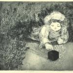 山下淳子/YamashitaJunko:ぼくの居場所:25×30:銅版