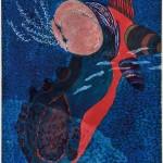 池田 由紀子/IKEDA yukiko:深海に生きる-Ⅱ 84×60 木版