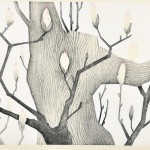 内山 良子/UCHIYAMA ryoko:ささやかなともしび 54.5×79 木版