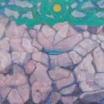 沓間 宏/KUTSUMA hiroshi:シロアムの池(乾かぬ泉) F200 油彩
