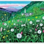 田中 一生/TANAKA kazuo:SOGLIOの春Ⅱ 42×58 木版