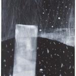 海老塚耕一/EBIZUKA koichi:水・分断される世界へⅠ 90×50 銅版・メゾチント・ドライポイント