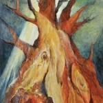 落合 輝美/OCHIAI terumi:大地の樹(望) F100 油彩