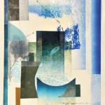 ウチダヨシエ/UCHIDA yoshie:Landscape(T) 116×42 木版・孔版