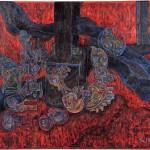 山下 茂/YAMASHITA shigeru:焼却炉と生物 F100 油彩