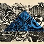 髙橋 房雄/TAKAHASHI fusao:明日へのラプソディ 45×60 木版