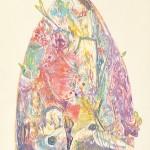 """大久保 澄子/OKUBO sumiko:""""森への誘いⅥ-甦える森- A Temptation to the Forest Ⅵ-Reviring Forest-"""" 85×47 木版・銅版・コラグラフ・エンボス"""