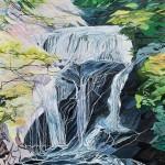 杉本 正春/SUGIMOTO masaharu:袋田の滝 F100 油彩