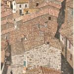 大坂 忠司/OSAKA tadashi:Sorano(1) 72.5×54 木版