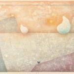 川井 木綿/KAWAI yu:浅【あさ】き【き】春【はる】 45.5×60.6 木版