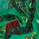 三樹 保子/MIKI yasuko:緑の投影 F100 油彩
